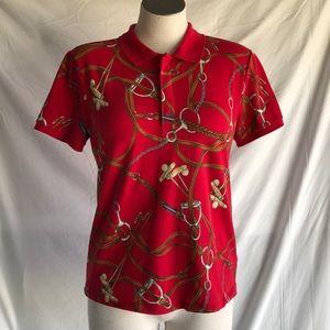 Ralph Lauren women's red shirt Sz M